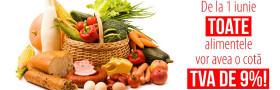 Reducere tva la alimente