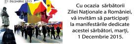 Invitatie 1 Decembrie